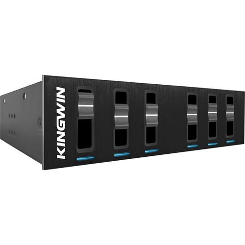 """Kingwin 6-Channel Multi-Fan Controller for 5.25"""" Bay"""