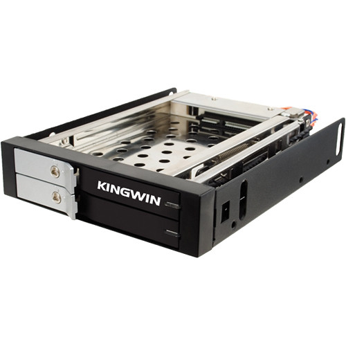 "Kingwin KF-251-BK 2.5"" Dual Bay Internal Hot Swap Rack"