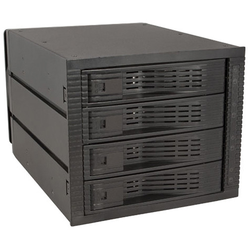"Kingwin KF-4001-BK 3.5"" Internal 4-Bay Hot Swap Rack RAID"