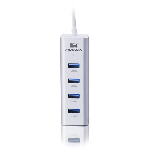 Kingwin KWZ-400 Multi-Port USB 3.1 Gen 1 Hub (White)