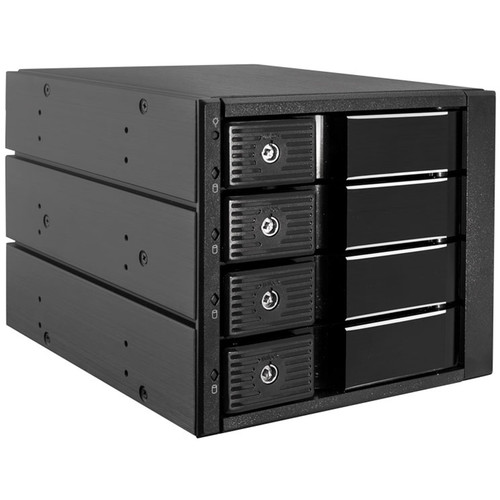 """Kingwin Internal Tray-Less Hot-Swap Mobile Rack for 4x 3.5"""" HDDs"""