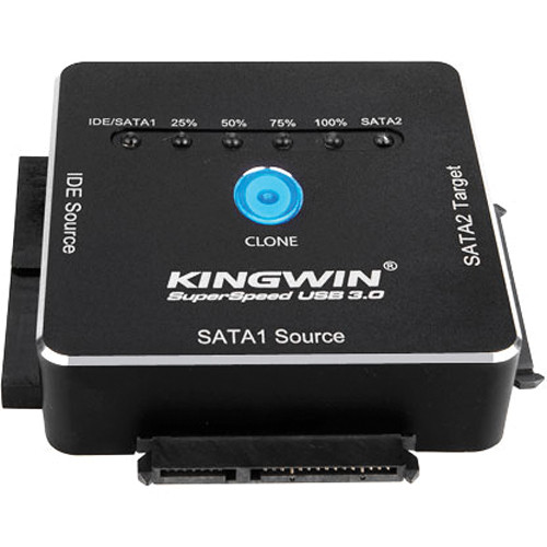Kingwin USI-2535CLU3 EZ-Clone USB 3.0 to SATA & IDE One Click Clone Adapter