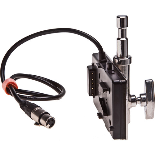 "Kino Flo V-Lock Battery Mount with 5/8"" Baby Pin and 3-Pin XLR for 26V Dynacore DHB-200 & LITH LH-230 Battery"