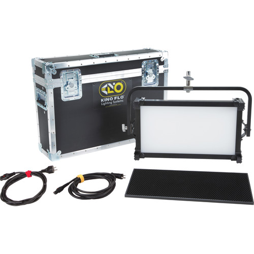 Kino Flo Celeb 250 DMX LED Fixture with Yoke Mount Kit with Shipping Case