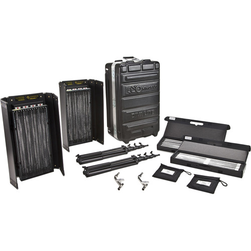 Diva Lite 415 Universal 2 Light Kit With Flight Case by Kino Flo
