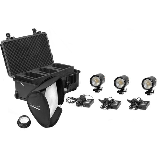 Kinotehnik Practilite 600 Bi-Color LED Fresnel 3-Light Kit