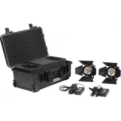 Kinotehnik Practilite 602 LED Bi-Color Fresnel 2-Light Kit with Case