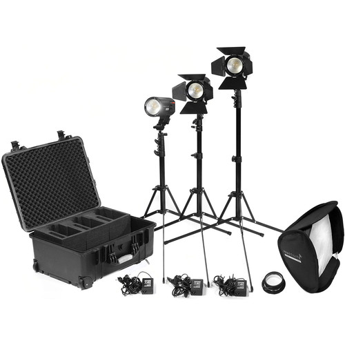 Kinotehnik Practilite 602 3-Light Kit with Light Stands