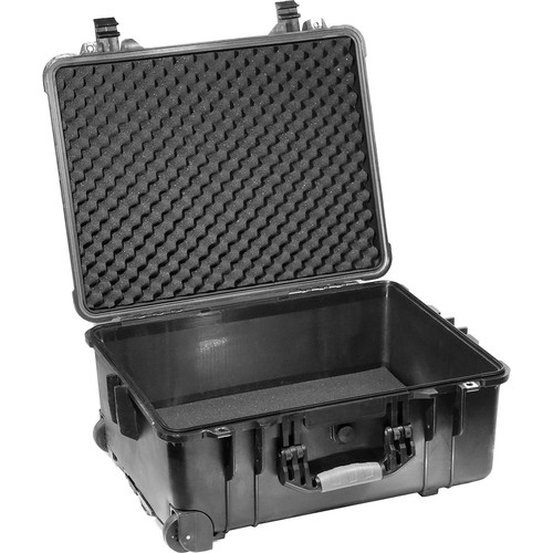 Kinotehnik 1560 Injection-Molded Waterproof Wheeled Case for 2-3 Light Kit with Stands