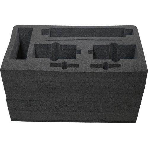 Kinotehnik Foam Cutout for 2 x Practilite 602, 1 x Practilite 802 & Power Adapters