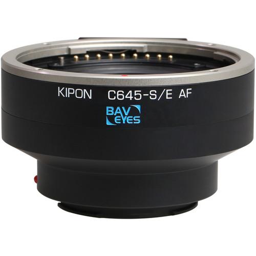 KIPON Baveyes 0.7x Autofocus Lens Mount Adapter for Contax 645-Mount Lens to Sony-E Mount Camera