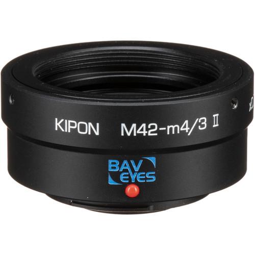 KIPON Baveyes 0.7x Mark 2 Lens Mount Adapter for M42-Mount Lens to Micro Four Thirds-Mount Camera