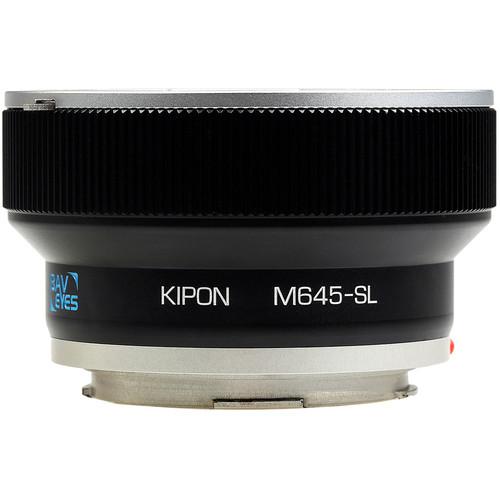 KIPON Baveyes 0.7x Lens Mount Adapter for Mamiya 645-Mount Lens to Leica L-Mount Camera