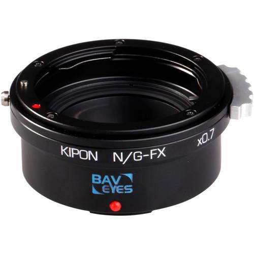 KIPON Baveyes 0.7x Lens Mount Adapter for Nikon F, G-Type Lens to FUJIFILM FX-Mount Camera