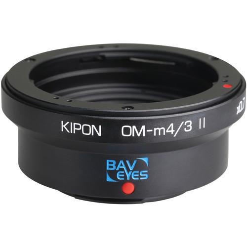 KIPON Baveyes 0.7x Mark 2 Lens Mount Adapter for Olympus OM-Mount Lens to Micro Four Thirds-Mount Camera