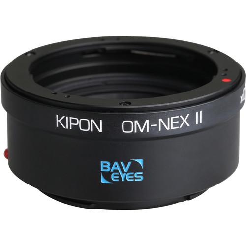KIPON Baveyes 0.7x Mark 2 Lens Mount Adapter for Olympus OM-Mount Lens to Sony E-Mount Camera