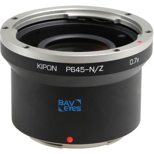 KIPON Baveyes 0.7x Lens Mount Adapter for Pentax 645-Mount Lens to Nikon Z-Mount Camera