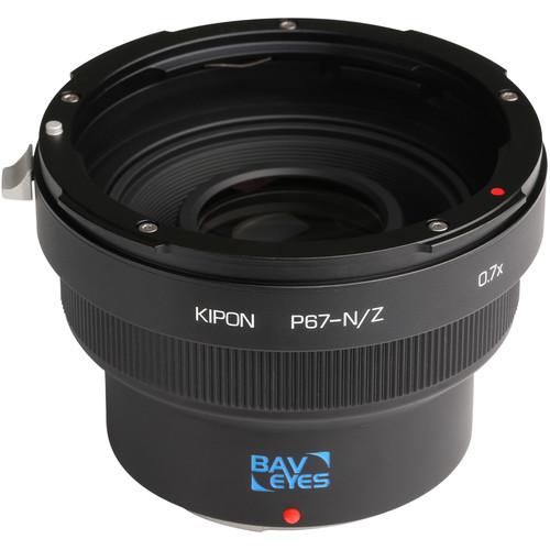 KIPON Baveyes 0.7x Lens Mount Adapter for Pentax 6x7-Mount Lens to Nikon Z-Mount Camera