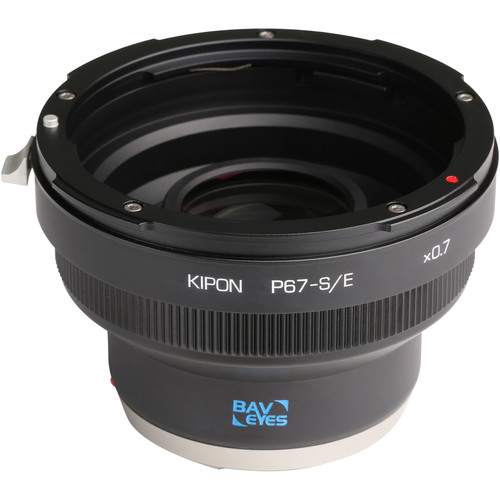 KIPON Baveyes 0.7x Lens Mount Adapter for Pentax 6x7-Mount Lens to Sony-E Mount Camera