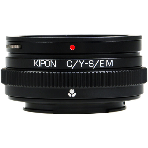 KIPON Macro Lens Mount Adapter with Helicoid for Contax/Yashica-Mount Lens to Sony-E Mount Camera
