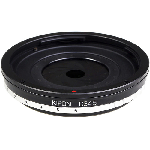 KIPON Lens Mount Adapter with Built-In Iris for Contax 645 Lens to Nikon F-Mount Camera