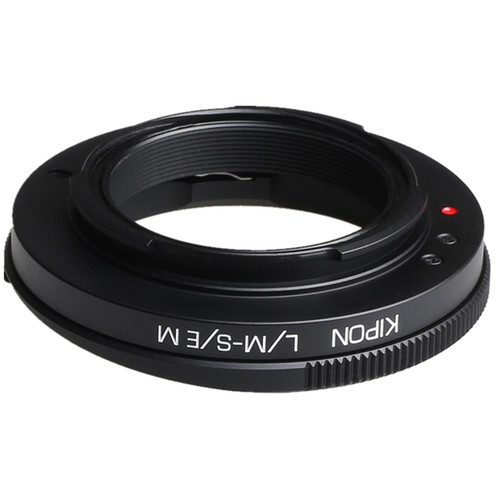 KIPON Macro Lens Mount Adapter with Helicoid for Leica M-Mount Lens to Sony-E Mount Camera