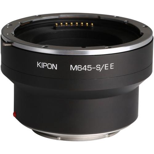 KIPON Electronic Lens Mount Adapter for Mamiya Brand, Mamiya 645-Mount Lens to Sony E-Mount Camera