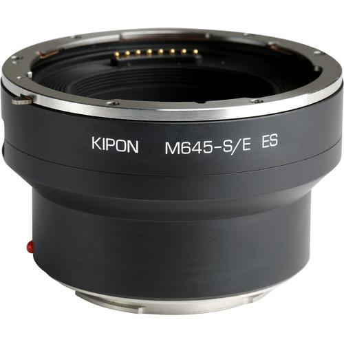 KIPON Electronic Lens Mount Adapter for Phase One/Schneider Kreuznach, Mamiya 645-Mount Lens to Sony E-Mount Camera