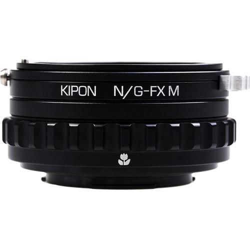 KIPON Macro Lens Mount Adapter with Helicoid for Nikon F-Mount, G-Type Lens to FUJIFILM X-Mount Camera