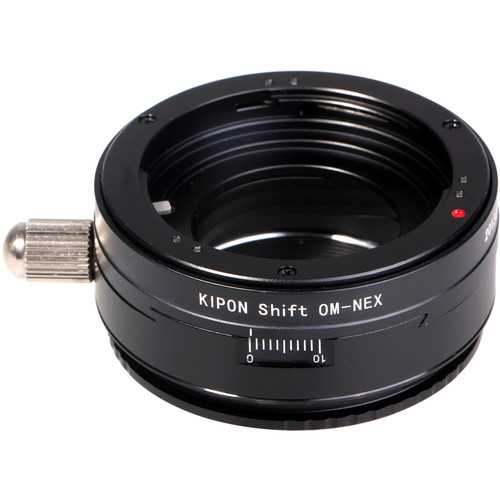 KIPON Shift Lens Mount Adapter for Olympus OM Lens to Sony E-Mount Camera