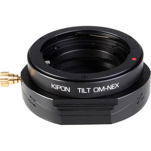 KIPON Tilt Lens Mount Adapter for Olympus OM Lens to Sony E-Mount Camera