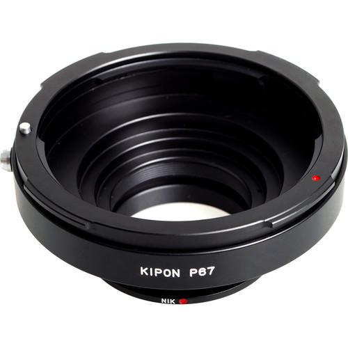 KIPON Lens Mount Adapter for Pentax 6x7 Lens to Nikon F-Mount Camera