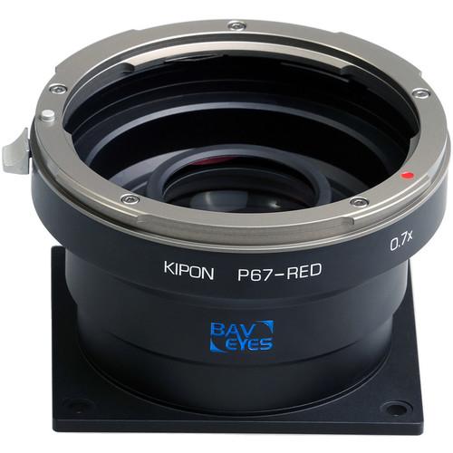 KIPON Pentax 67 to Red 0.7X Adapter