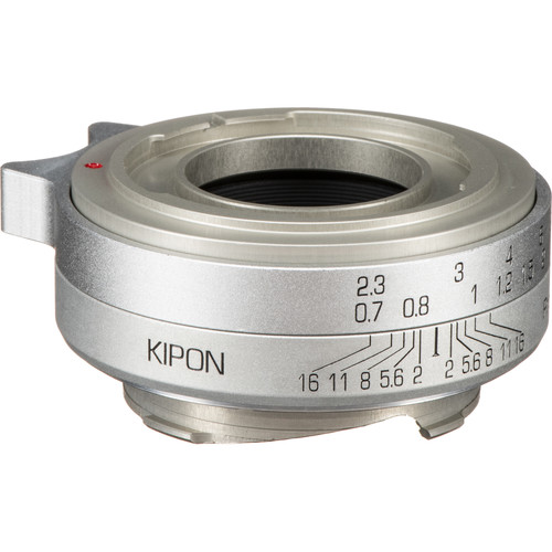 KIPON Lens Mount Adapter for Voigtlander Prominent-Mount Lens to Leica M-Mount Camera (Silver)