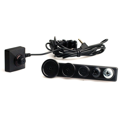KJB Security Products C1020 Button & Screw Wired CCD Color Covert Camera Set