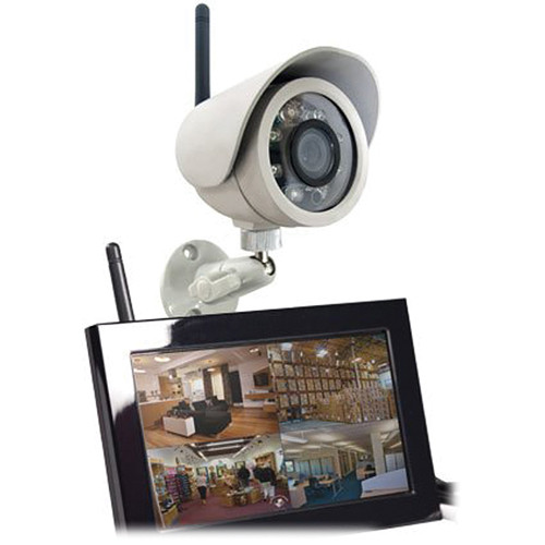 KJB Security Products C1220 Zone Shield Outdoor Color Camera with QUAD LCD