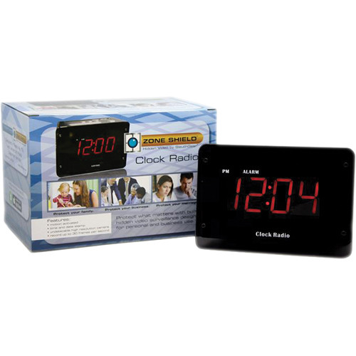 KJB Security Products C1230HC Hardwired Clock Radio Covert Color Camera (NTSC)