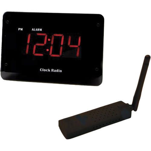 KJB Security Products Zone Shield Clock Radio Camera with USB Receiver (NTSC)