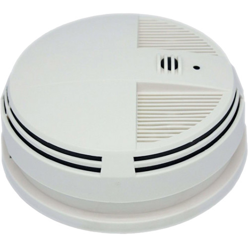 KJB Security Products C1547 SleuthGear Zone Shield Night Vision Smoke Detector QUAD Camera (Side View)