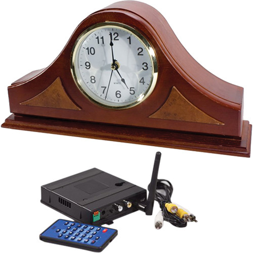 KJB Security Products C1571 SleuthGear Zone Shield Wireless Mantel Clock with QUAD Receiver
