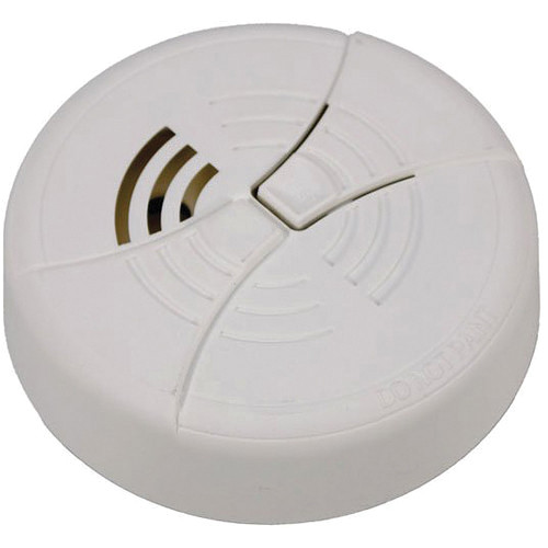 KJB Security Products Smoke Detector with 380 TVL Color Covert Camera (Bottom View)