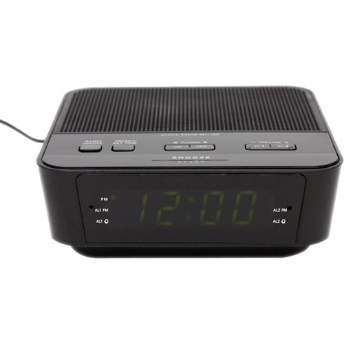 KJB Security Products Zone Shield EZ Clock Radio with 720p Covert Camera
