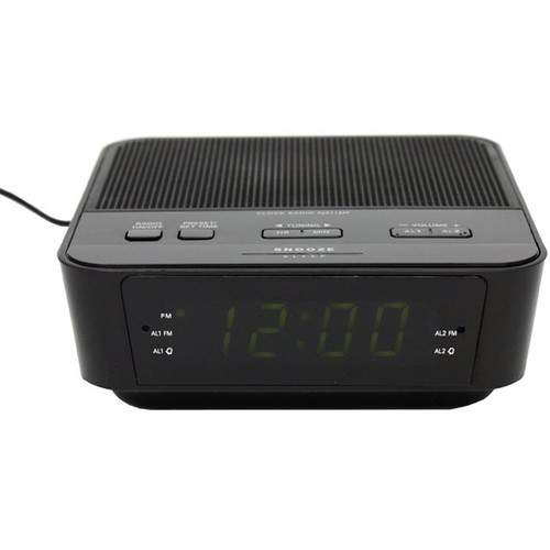 KJB Security Products Zone Shield EZ Clock Radio with 720p Covert Camera and Audio