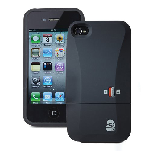 KJB Security Products DS500 Dual SIM Card Case for iPhone 4 and 4S