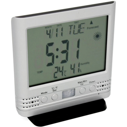 KJB Security Products Weather Clock with Covert Camera