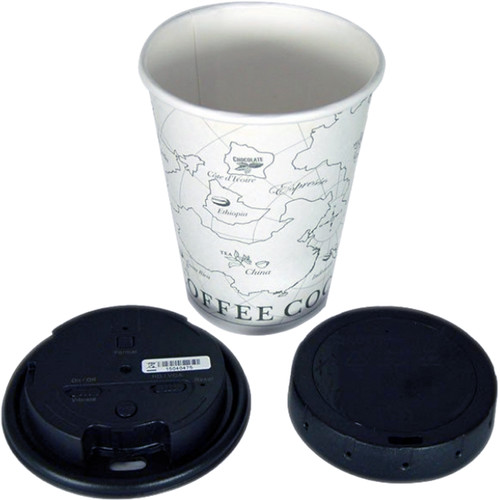 KJB Security Products LawMate Coffee Cup Lid Style DVR with 720p Covert Camera