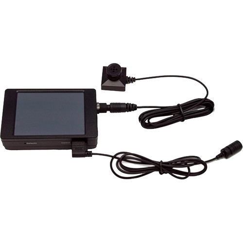 KJB Security Products Hand Held DVR and Button Camera Set