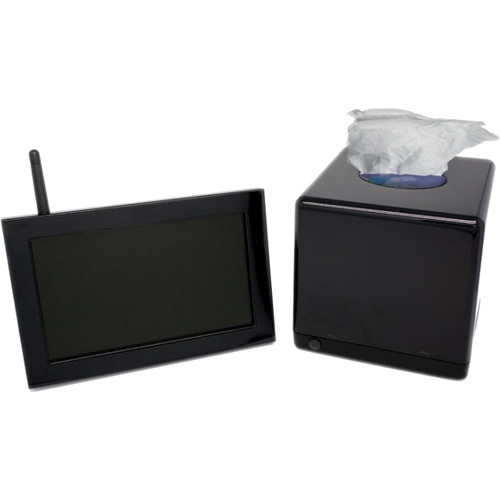 KJB Security Products SC1731 Xtreme Life Night Vision Tissue Box Covert Camera with QUAD LCD Receiver