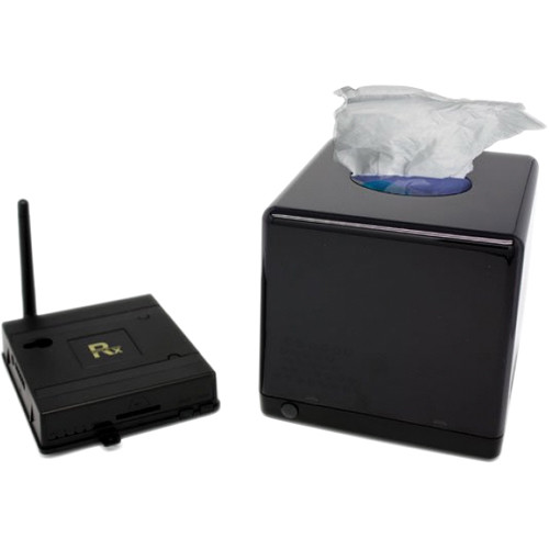 KJB Security Products SC1732 Xtreme Life Night Vision Tissue Box Covert Camera with QUAD Receiver
