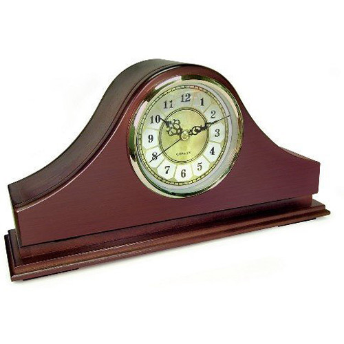 KJB Security Products Xtreme Life Mantel Clock with 4K UHD Covert Camera & DVR